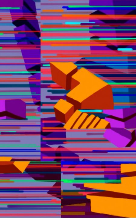 Colourful Glitched abstract digital ART work