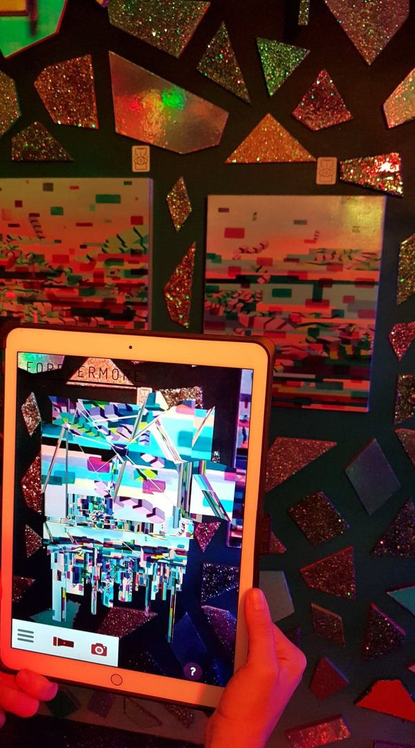 Immersive Art Installation Exhibition at Universal Music Fun House Toronto with Episode 2nd Augmented Reality sculpture over oil on canvas