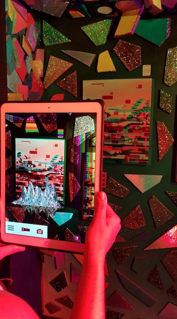 Immersive Art Installation Exhibition at Universal Music Fun House Toronto with Episode 3rd Augmented Reality sculpture over oil on canvas