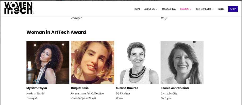 Women in tech Awards brochure Raquel Palis nominee